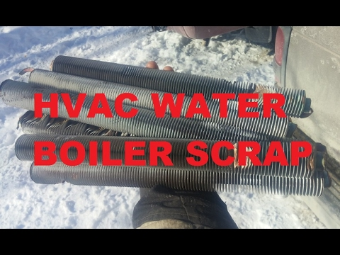 Scrapping A Hot Water Boiler for Copper, HVAC Pickup, eBay What Sold