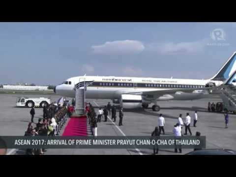ASEAN 2017: Arrival of Prime Minister Prayut Chan-o-cha of Thailand