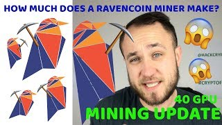 HOW MUCH DOES A RAVENCOIN MINER MAKE? 40 GPU MINING UPDATE