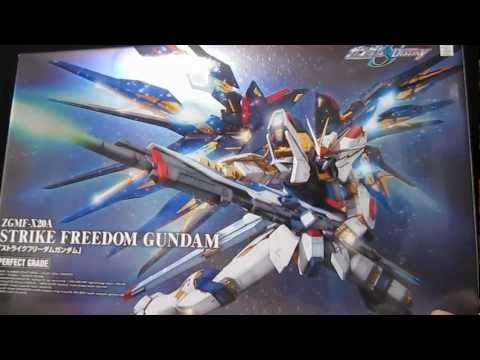 PG Strike Freedom (Part 1: Unbox) Gundam Seed Destiny gunpla review