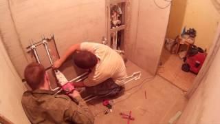 ремонт ванной комнаты в хрущевке за 12 минут
