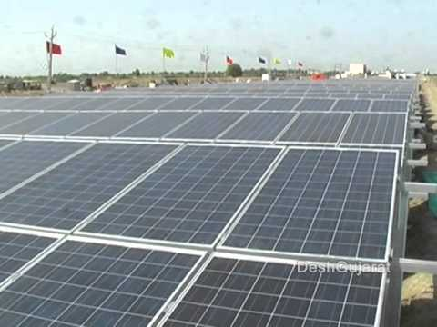 Video visit to world's first canal-top solar power plant in Gujarat with SunEdison official