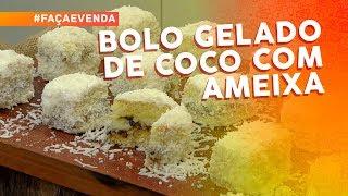 Bolo gelado de coco com ameixa por Janaína Barzanelli