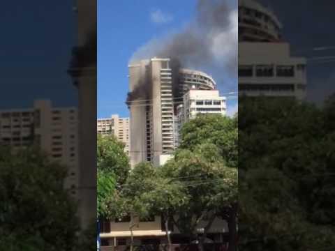 High Rise Fire Marco Polo Honolulu Hawaii
