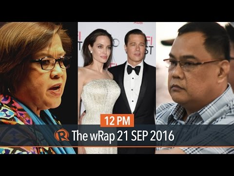 Bilibid drug trade, Leila de Lima, Angelina-Brad divorce | 12PM wRap