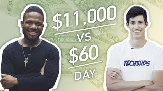 Earning $11,000 vs. $60 in a Day thumbnail
