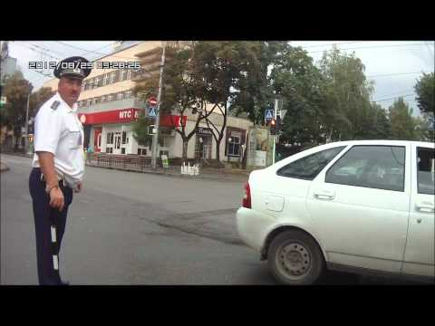 Остановка авто с нарушением ПДД