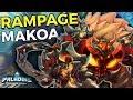 RAMPAGE MAKOA! BEST TANK IN PALADINS! Leviathan Makoa Gameplay (Paladins)