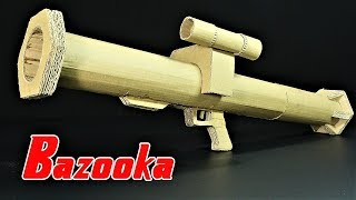 How To Make A Bazooka Rocket Launcher That SH00TS From Cardboard