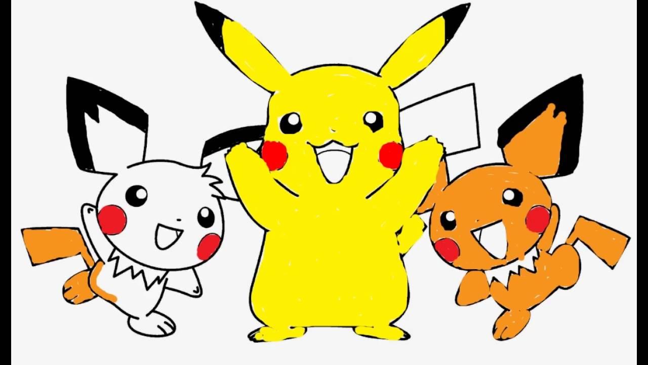 Coloring Book Pokemon Go Pikachu and cute Pichus ...