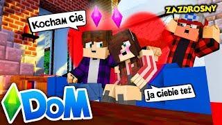 MINECRAFT DOM #14 - ZDRADZIŁA MNIE?! *z moim przyjacielem?!* | SIMSCRAFT