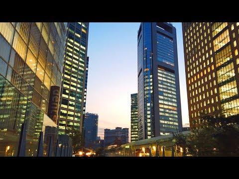 Beatiful Evening Walk In Tokyo Shiodome4K UHD