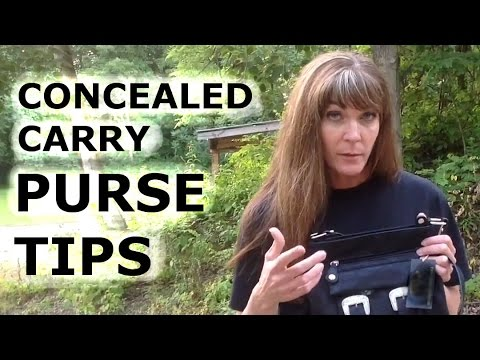 Tips for Concealed carry purse use