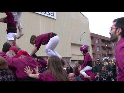 Castellers de Lleida a La Fira de Sant Josep