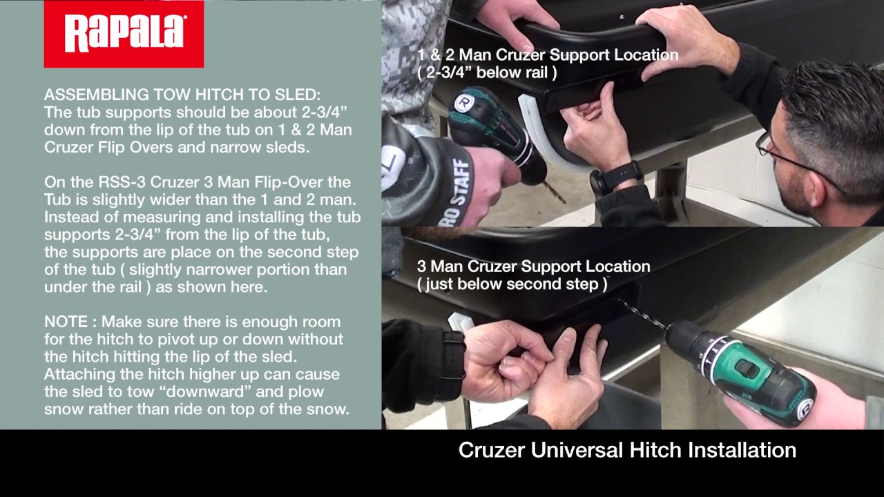 How to Install Tow Bar/Hitch for Ice Shelters/Sleds
