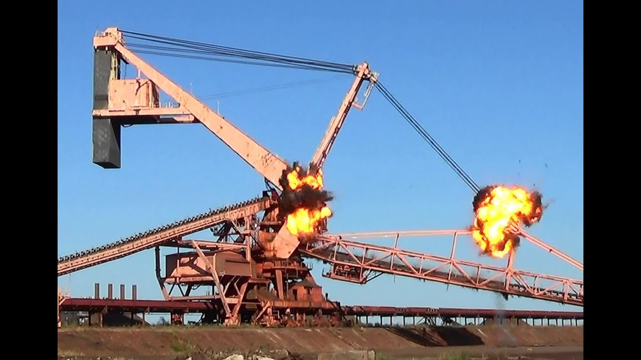 Ore Stacker Reclaimer Arms  Counterweights  Controlled