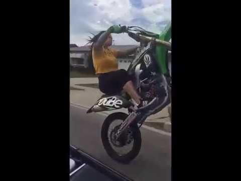 Sexy Girl Dirt Bike