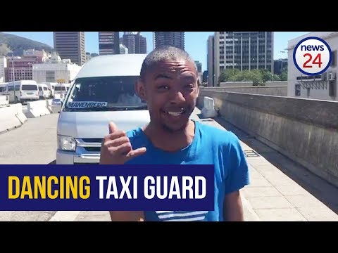 Cape Town's Dancing taxi guard has gone viral