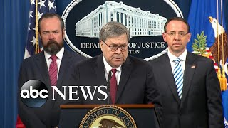 Mueller Report Showed 'No Collusion' With Russia By Trump Campaign, Ag Barr Says