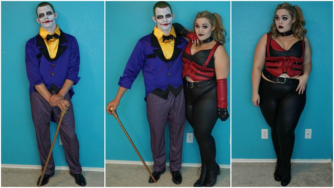 Halloween Joker And Harley Quinn Costumes.Joker Harley Quinn Halloween Costumes Makeup Tutorial