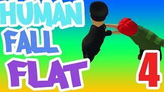 PUT YOUR HANDS UP! IT'S THE POLICE!! - Human: Fall Flat 4-Player Multiplayer - Ep. 4