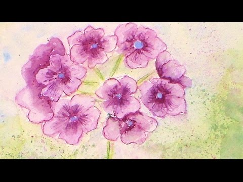 how to paint a purple geranium flower in watercolor pencils youtube. Black Bedroom Furniture Sets. Home Design Ideas