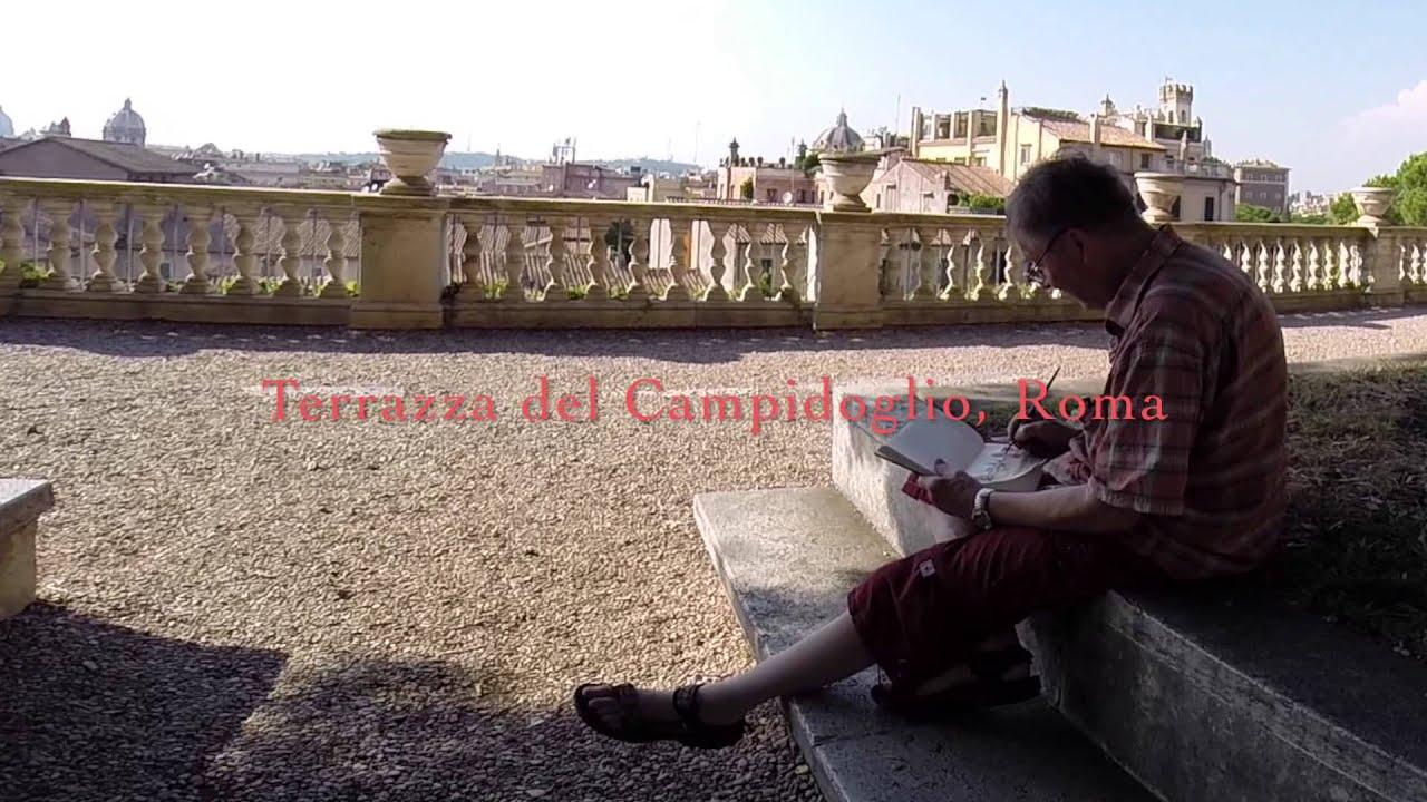 A Sketch Is Worth A Thousand Pictures Terrazza Del Campidoglio Rome Day 1