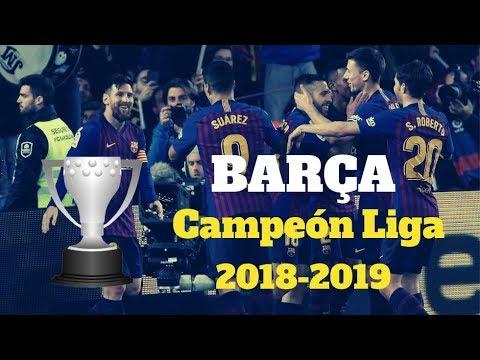 El FC Barcelona Campeón De Liga 2018-2019