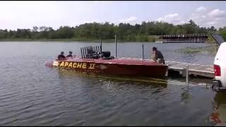 Amazing Race Boat APACHEE starting up on Gull Lake