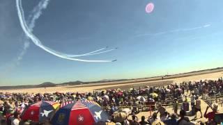 Maniobra aerea de los patriots miramar 2014