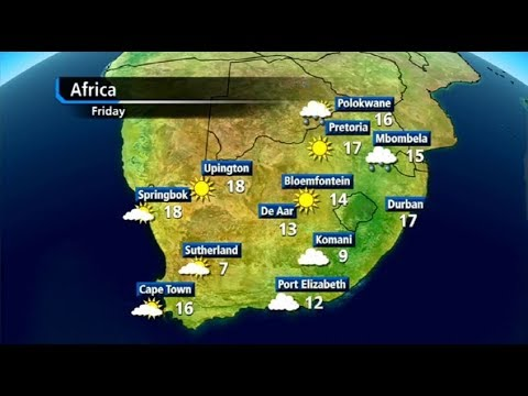 SA, Africa #Weather forecast | 20 December 2017