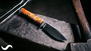 MAKING A SKINNING KNIFE WITH BASIC TOOLS!!!