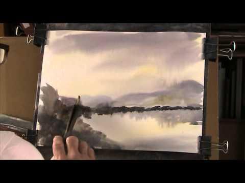 Derwent Water, Lake district,  Watercolour