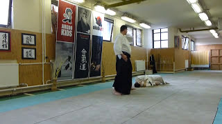 yokomen uchi shihonage ura [AIKIDO]  basic technique