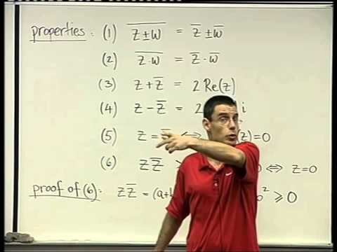 06 - The Complex conjugate,  the modulus and division