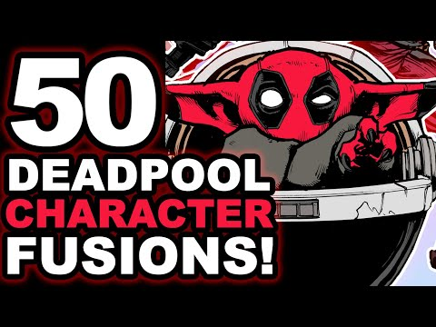 ONE ARTIST... 50 DEADPOOL CHARACTER FUSIONS! SATISFYING! 🔥