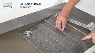 LUX ELEMENTS Montage: Waschtische LAVADO im schwebenden Design