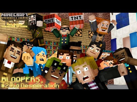 (MMD) Big Desperation BLOOPERS [Minecraft: Story Mode Final Season]