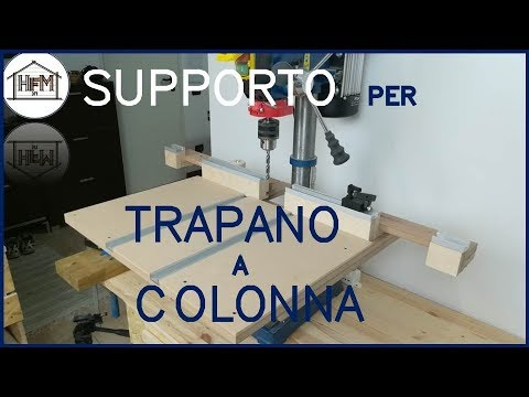 Supporto per trapano a colonna fai da te youtube for Dima per spine legno fai da te