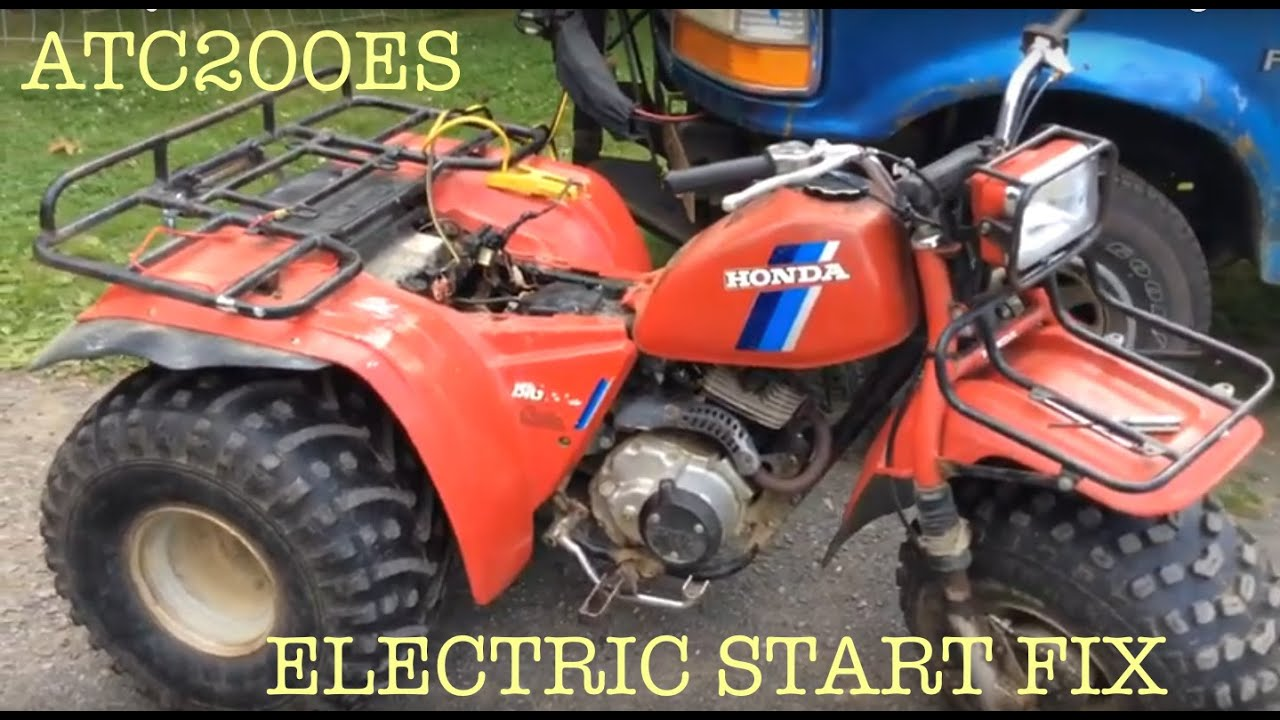 small resolution of 84 honda big red 200es electric start troubleshoot fix