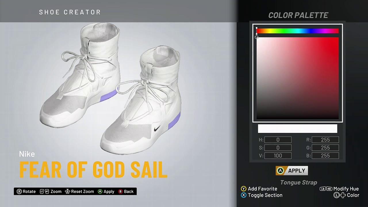 NBA 2K20 Shoe Creator - Nike Fear Of
