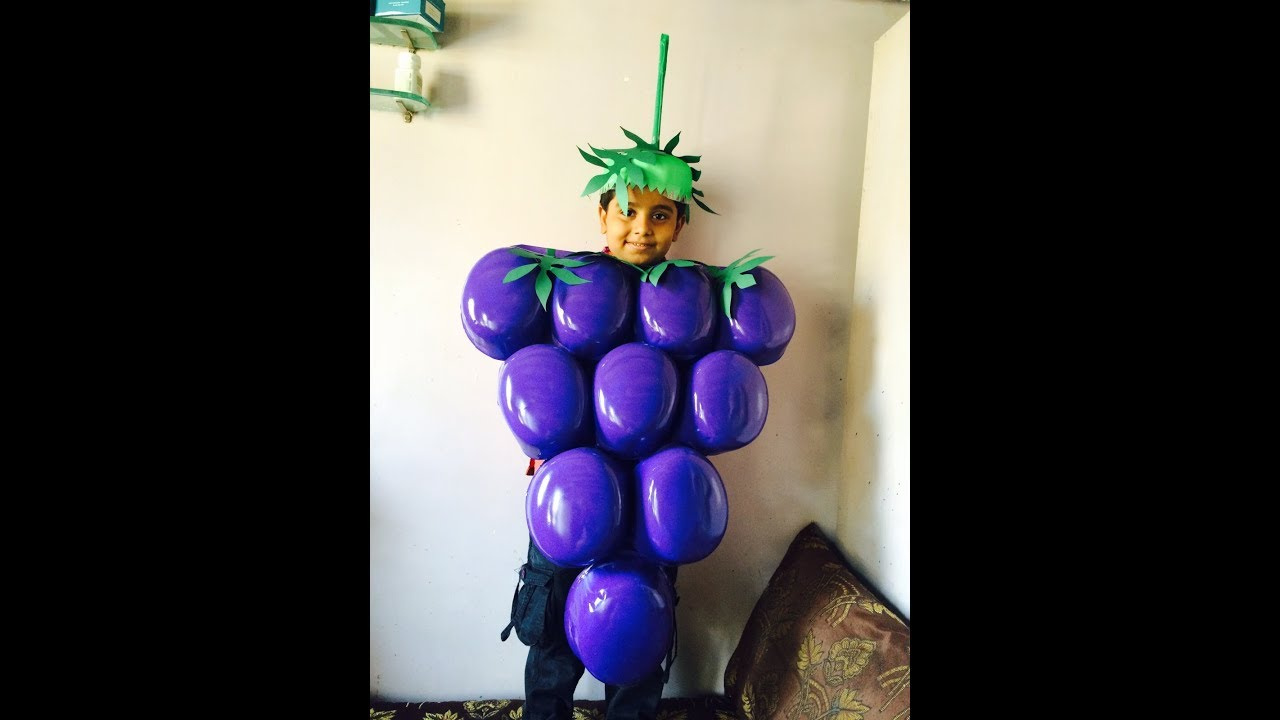 feaff6c345644e How to make grapes fancy dress   Grapes fancy dress   Grapes   Fancy dress    Fancy dress for kids