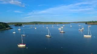 Autel Flight Over RobinHood Marina, Maine