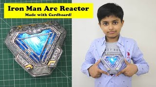 I made Iron Man Arc Reactor Mark 85 from Avengers Endgame (in Hindi) | Easy Cardboard Craft DIY Idea