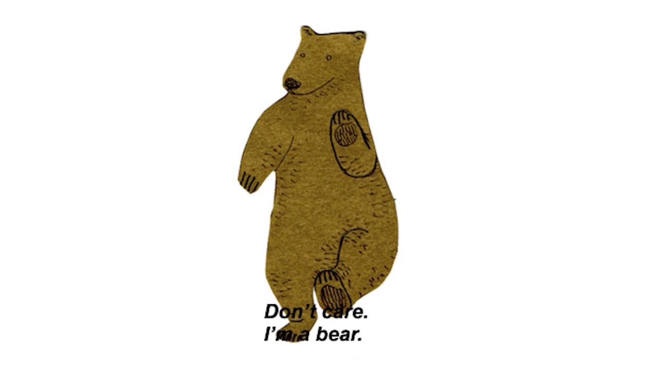 Image result for bear don't care
