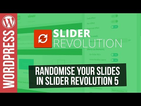 How to Randomize your Slides in Slider Revolution 5 - 동영상