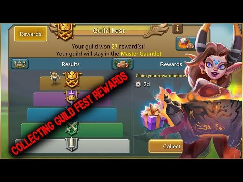 Collecting Guild Fest Rewards | Master Gauntlet | Lords Mobile