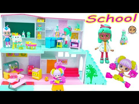Shopkins Shoppies Doll Happyville High School Classroom Sets + Surprise Blind Bags