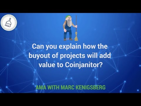 Can you explain how the buyout of projects will add value to Coinjanitor?