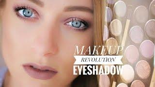 Макияж и обзор палетки теней Makeup Revolution Fortune Favours The Brave